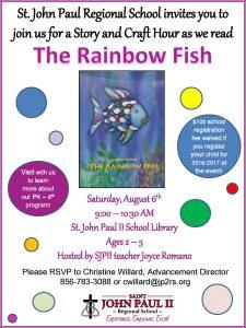 Summer Story Hour and Craft-Rainbow Fish