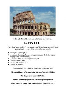 Latin After-school Club Begins