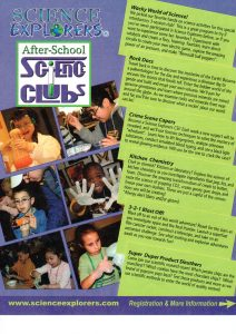 Science Explorers After-school Club Begins